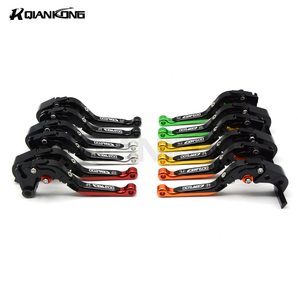 FOR Honda CB600F 2007-2013 Foldable adjustable motorcycle clutch brake levers Scooter clutch lever colorful прокладки клапанной крышки honda vtr1000f