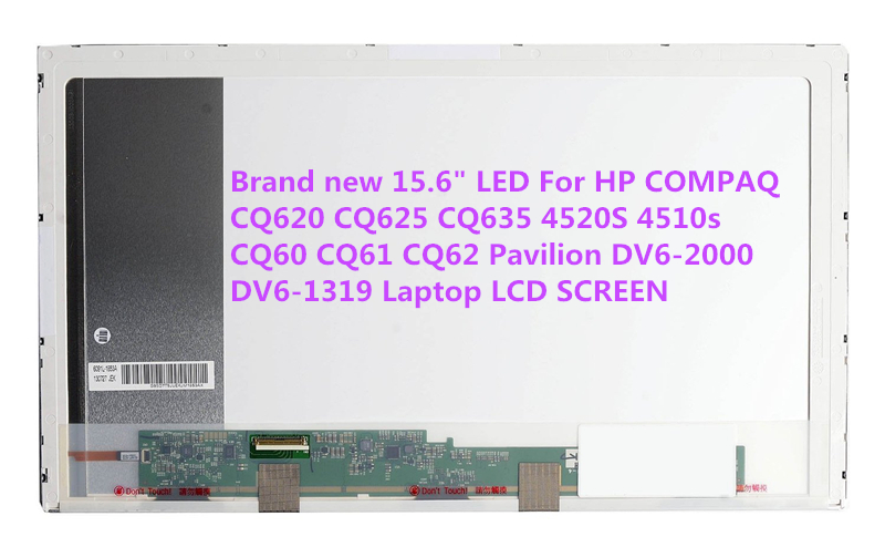 Brand new 15.6 LED For HP COMPAQ CQ620 CQ625 CQ635 4520S 4510s CQ60 CQ61 CQ62 Pavilion DV6 DV6-2000 DV6-1319 Laptop LCD SCREEN ttlcd laptop lcd screen 15 6 inch for hp compaq hp pavilion dv6 3034sl perfect screen without dead piexls