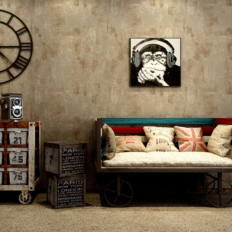 Vintage Gray Wallpaper roll Non woven 3D Wall Paper home decor wall ...