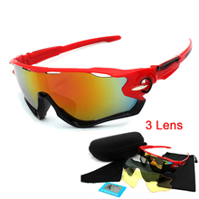 3 Lens Polarized Cycling Glasses Bicyce Sunglasses for Men UV400 Outdoor Sport Fishing Goggles Women MTB Riding Bike Eyewear