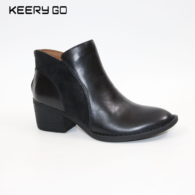new high-end leather with bow tie, women's short boots Leather comfortable boots fever short gloves with bow красные короткие перчатки