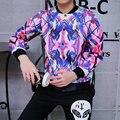 2016 Мода 3D Печати Куртка Мужчины Бейсбол Активность Бомбардировщик Куртки Человек Хип-Хоп Студенты Мальчики Случайных Ветровка Пальто плюс размер