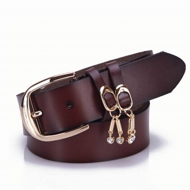 0395b39ed 2018 new women genuine leather belt for women jeans, western real leather  womens belts with