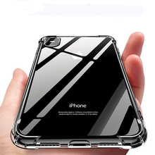 цены на Anti-Knock Crystal Clear Case For iPhone XS Max XR X 8 7 6 6X 6 X 7 Plus Airbag Drop Protection Cover Transparent Soft TPU Case  в интернет-магазинах
