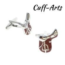 Cuffarts Horse Riding Saddle Equestrian Cufflinks 2018 Mens Sport Cuff Jewelery Light Gifts Vintage C10151