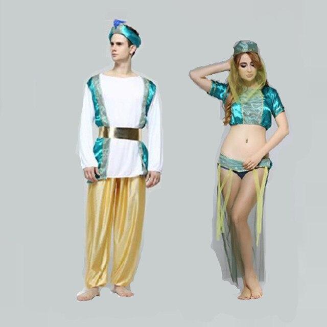 ee2d456f46b4 € 28.81 20% de DESCUENTO|Disfraces de Cosplay de disfraces de Halloween  para adultos, hombre, mujer, mujer, árabe, Oriente Medio, Dubai en de en ...