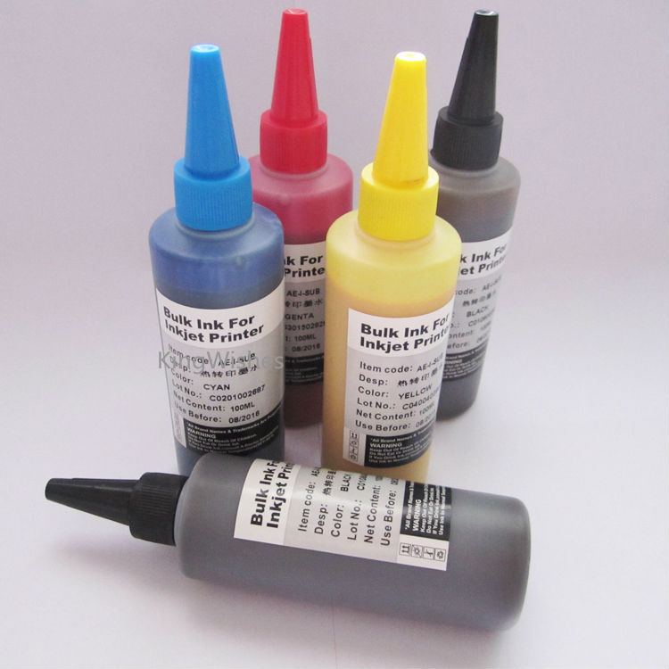 ФОТО High Quality 5PCS x 100ML T1251 T1251 T1252 T1253 T1254 Sublimation Ink For Epson Workforce 520 Printer