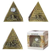 Vintage Europe Home Decoration Figurines Mini Egyptian Pyramid Model Creative Study Metal Crafts Living Room Bar Decor Ornaments(China)