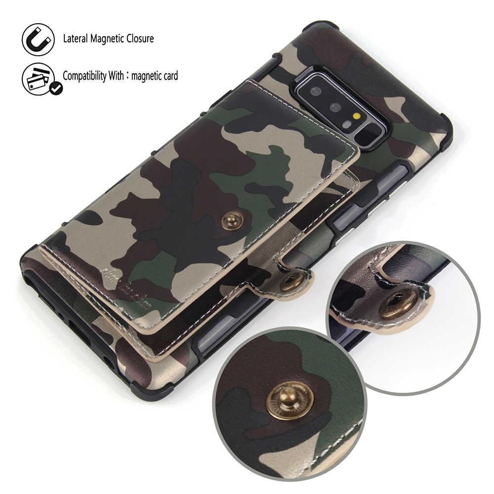 best service 3487a 6d54b Army Camoflage Luxury Case For Samsung Galaxy Note 9 Note 8 S10e PU Leather  Coque Cover For Samsung Galaxy S9 S8 S10 plus Cases