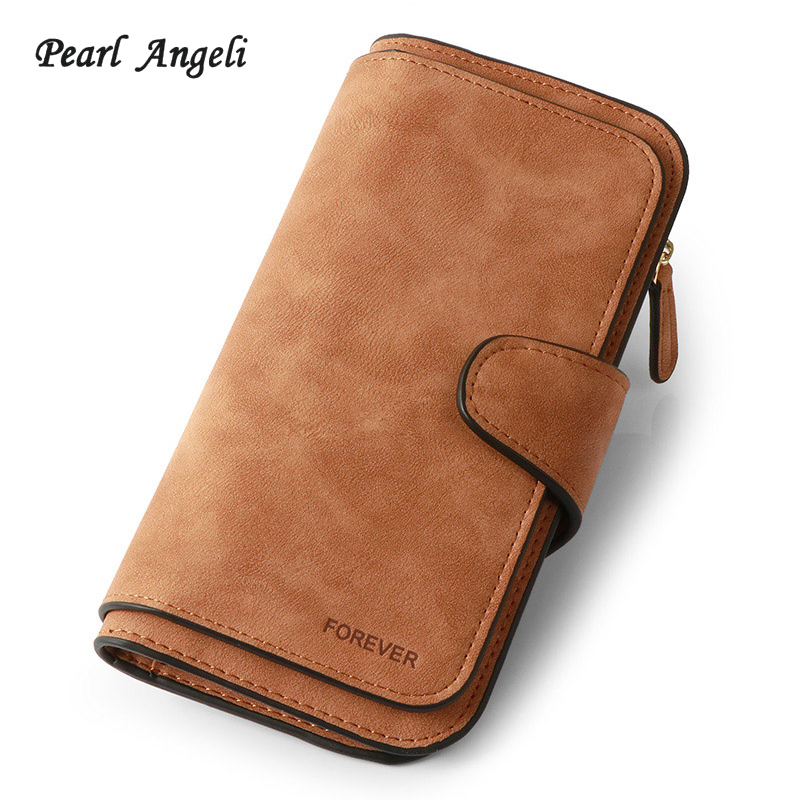 все цены на Wallet Female Card Holder Long Lady Clutch purse Carteira Feminina Wallet Forever Brand Coin Purse PU Leather Women Wallet Purse
