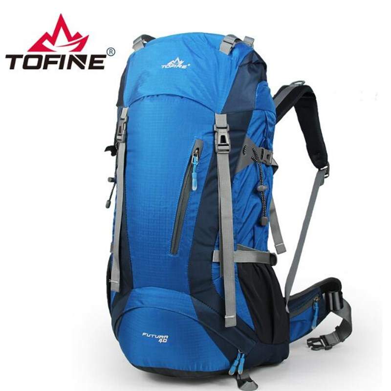 TOFINE 40L Outdoor Camping Backpack Waterproof Bag Mountaineering Hiking Backpacks Molle Sport Bag Climbing Rucksack 4 Color new arrival 38l military tactical backpack 500d molle rucksacks outdoor sport camping trekking bag backpacks cl5 0070