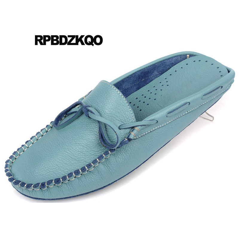 Men Slip On Driving Moccasin Casual PU Leather Loafer Slipper Shoes Soft Mules D