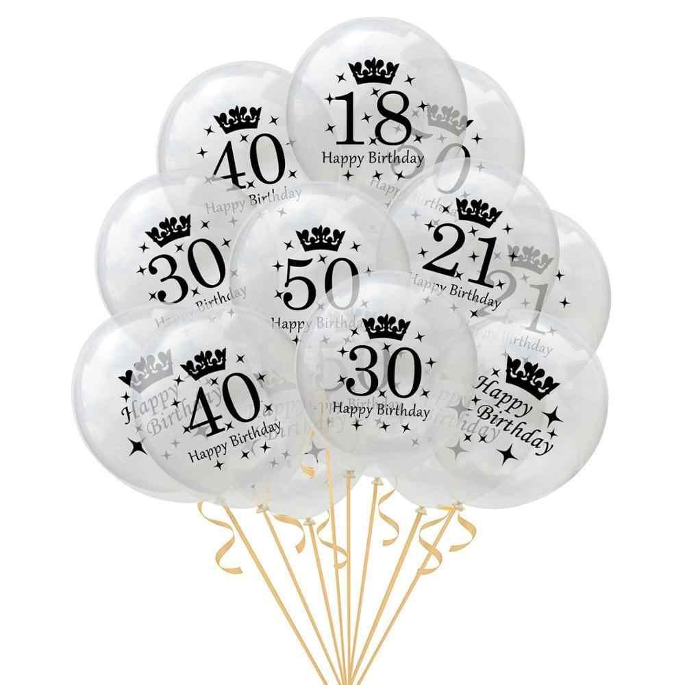 Polegada hot sale 18 12 21 30 40 50 60 cor lantejoula confetti do partido do balão de aniversário decoração