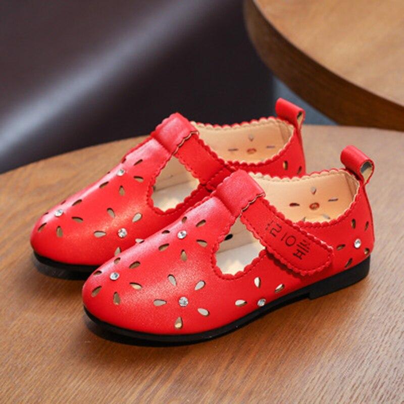 2017 Spring Summer Children's Sandals Girls Leather Shoes ...