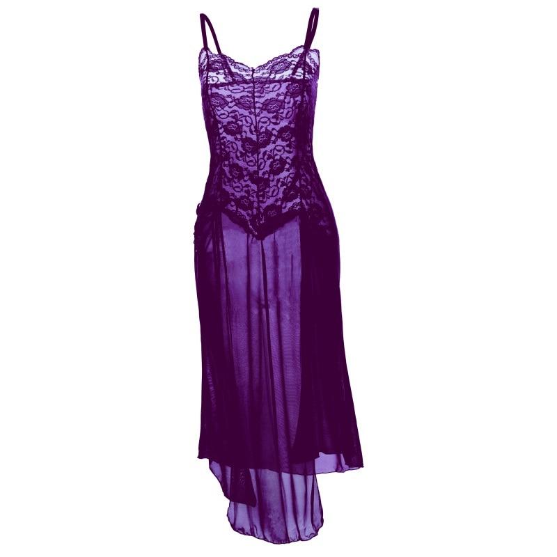 Women Underwear Lingerie Babydoll Sexy Lace Nightwear Dress+G-string Set Sleepwear M-3XL
