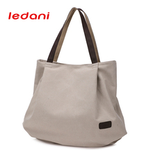 LEDANI New Women Satchels Shoulder Bags Canvas Shopping Bags Girls Casual Bags Fashion Women s Big