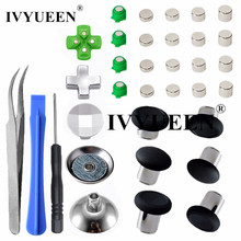 IVYUEEN Magnetic Metal Bullet Buttons for Dualshock 4 Playstation 4 PS4 Pro Slim Controller Thumbsticks Grips D pad Accessories