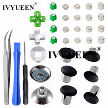IVYUEEN-Botones magnéticos de bala de Metal para Dualshock 4, botones de mando delgado para Playstation 4, PS4 Pro, accesorios de d-pad