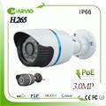 Новые Технологии H.265 3-МЕГАПИКСЕЛЬНОЙ Full HD POE Пуля Сети IP-КАМЕРА камера Onvif IP66 Водонепроницаемый Открытый CCTV Камеры IPCam Камара Kamera POE