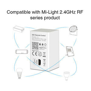 Image 4 - Milight YT1 WiFi Voice Afstandsbediening DC5V USB Smart 4G IOS Android APP Controller voor 2.4 GHz RGB CCT RGBW LED Strip Lamp