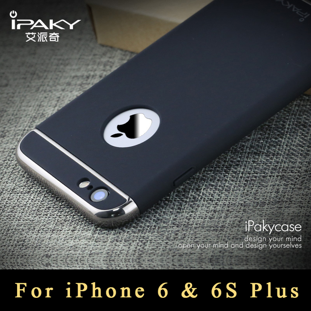f298e7d136c8c3 Original ipaky brand Full protection Cover Case For iPhone6 plus case  Luxury Slim 3 IN 1 PC cover For iPhone 6 plus case 5.5