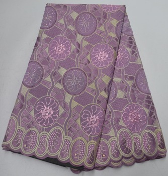 Newest Swiss Voile Lace In Switzerland Cotton Swiss Voile embroidered Lace Fabric 5 yards For Women Dress
