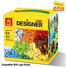 625 개/몫 어린이 DIY 장난감 교육 빌딩 블록 legoes와 호환 벽돌 부품 소년 조기 학습 플라스틱 어셈블리
