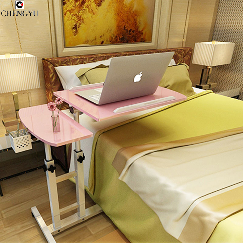 3 STYLES Simple Lazy Notebook Computer Table Bed With Computer Desk Folding Lift Bedside Mobile Creative Desk 64*40*95CM 250616 computer desk and desk style modern simple desk with bookcase desk simple table solder edge e1 grade sheet material