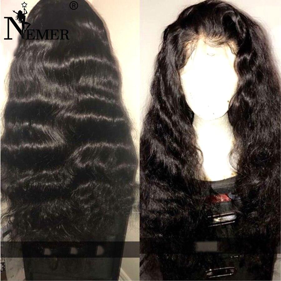Glueless бразильского Волосы remy предварительно сорвал натуральных волос 13x6 Синтетические волосы на кружеве человеческие волосы парик с ребенк...