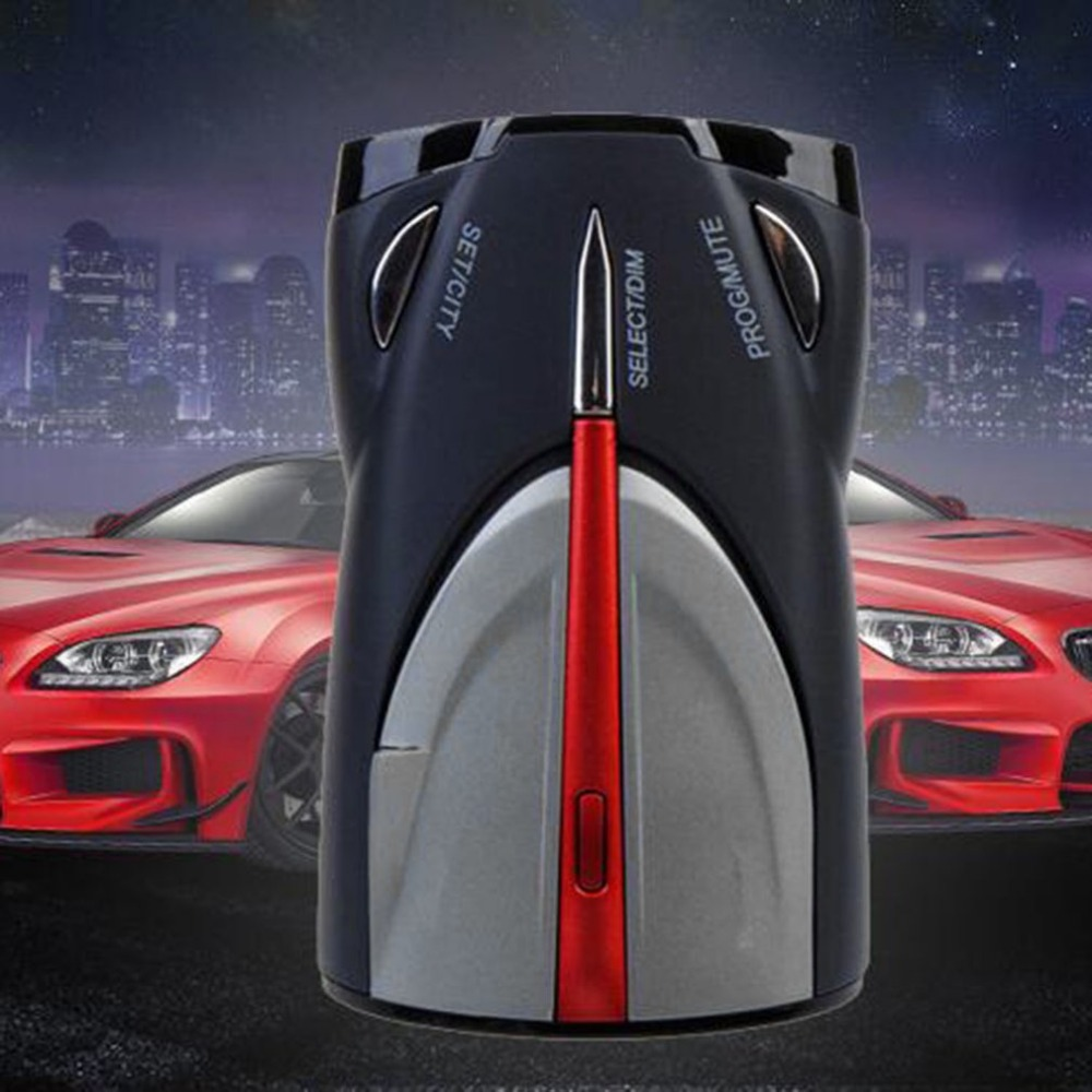 12V 16-Band Cobra XRS 9880 Laser Anti Radar Car Detector 360 degree Led Display hot xrs 9880 car radar detector full 16 band russian & english language lacer anti radar detector driving safety warning device