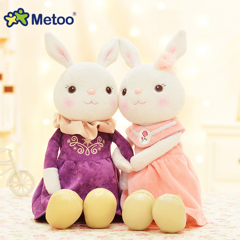 Plush Sweet Cute Lovely Stuffed Baby Kids Toys for Girls Birthday Christmas Gift 11 Inch Tiramitu Rabbits Mini Metoo Doll 13 inch kawaii plush soft stuffed animals baby kids toys for girls children birthday christmas gift angela rabbit metoo doll