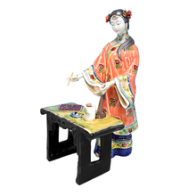 Sale Antique Imitation Statue Fu Chinese Ancient Ceramic Dolls for Home Decor Collectible Lady Sculpture Arts Free shipping