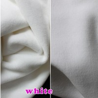 White Knitted Cotton Fabric Span Velour Fabric Thermal Underwear Fabric Hoodies Sold By The Yard Free