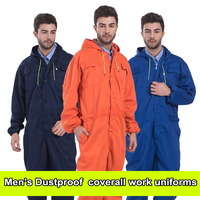 Mens coverall repairman jumpsuits trousers working uniforms Workwear coveralls Plus Size long sleevel coveralls FREE SHIPPING