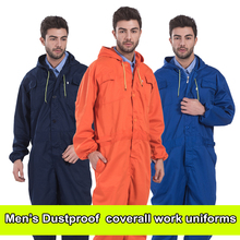 Mens coverall repairman jumpsuits trousers working uniforms Workwear coveralls Plus Size long sleevel coveralls FREE SHIPPING цена в Москве и Питере
