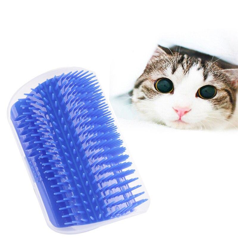 Krabpalen Pad Tafel Hoek Massage Scratchers Borstel Huisdier Bont Removal Brush Tickle Kam Huisdier Kat Stimulator Speelgoed Jade Wit