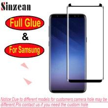 100 pièces Pour Samsung S10/S9 Plus/S8/Note 8/Note 9/Note 10 3D Pleine Colle amical Bord Incurvé Verre Trempé Protecteur Décran