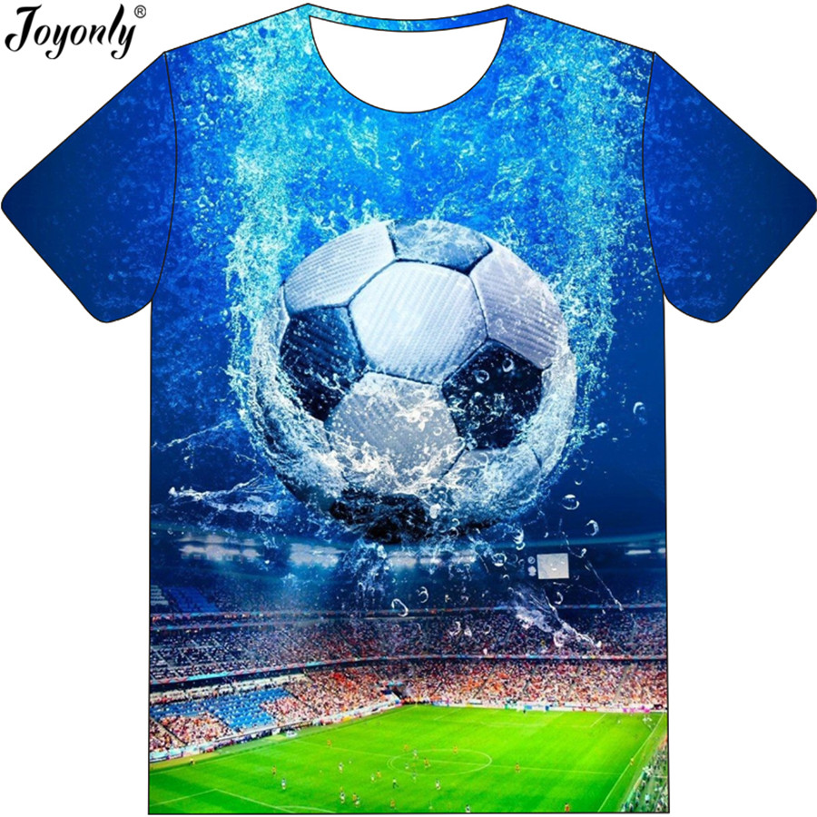 Joyonly 2018 Summer Boys Girls 3D T-shirt Cool Field Water Football Field Printed Blue T shirt Children Fashion Funny Tee ShirtsJoyonly 2018 Summer Boys Girls 3D T-shirt Cool Field Water Football Field Printed Blue T shirt Children Fashion Funny Tee Shirts