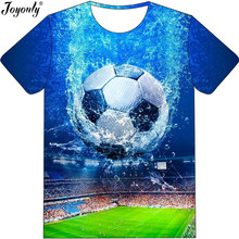 Joyonly 2019 Summer Boys Girls 3D T-shirt Cool Field Water Football Fi