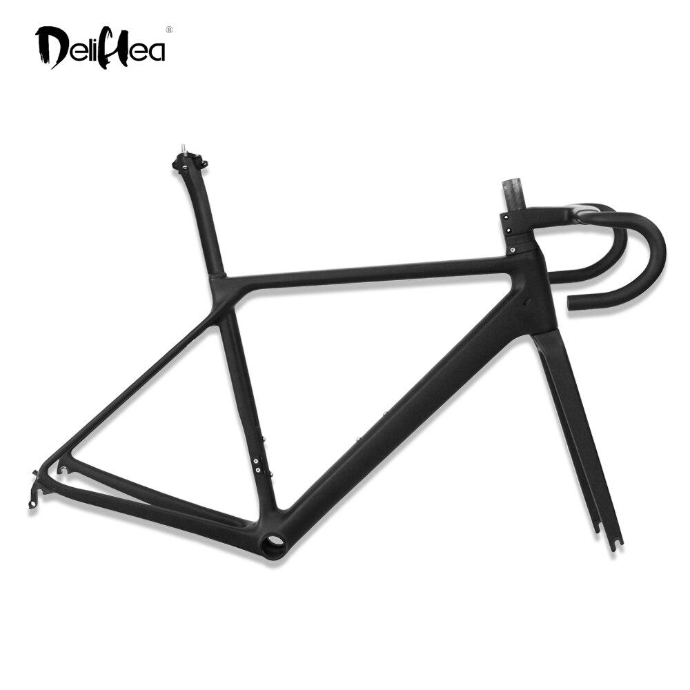 DeliHea cadre de vélo de route en carbone 2019 nouveau cadre de vélo de course en carbone cadre de vélo de route en carbone T1000 cadres BB86