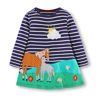 Children S Dress Cartoon Long Sleeve Pirncess Girls Dress Animal Pattern Children X27s Dresses