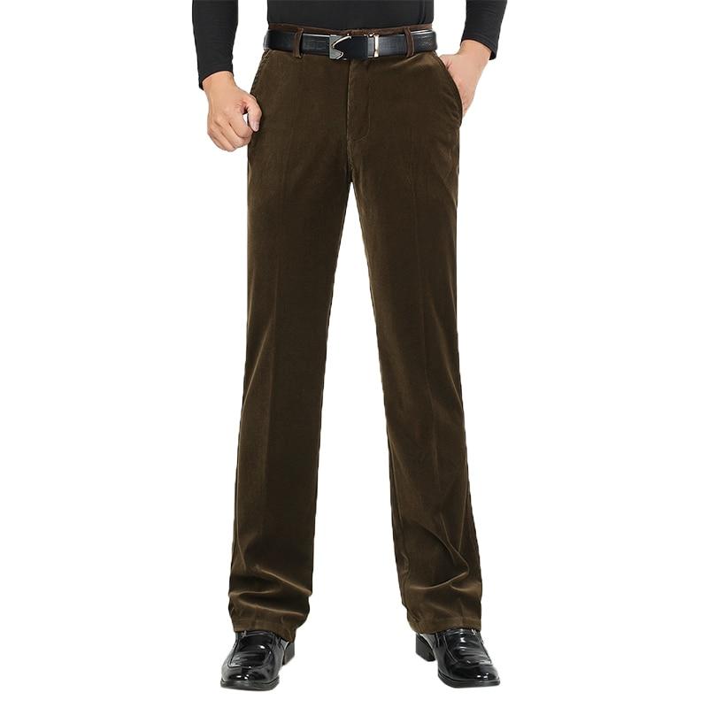 Autumn Men Classic Corduroy Formal Suit Pants Male Slim Fit Business Fashion Trousers Casual Big Size Men's Wedding Dress 3XMR37