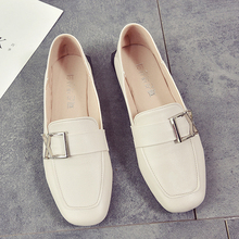 2019 Spring Leather Flats Shoes Women Moccasins Female Shoe Black Comfortable Loafers Women Shoes Slip On Mules mocassin femme