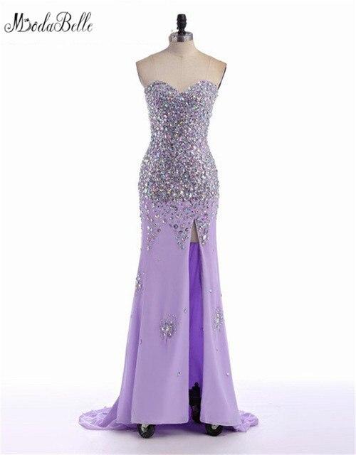 Modabelle Ballkleider Mermaid Long Dress Prom 2017 Luxury Beaded Prom  Dresses Bling Slit Summer Party Dress Formal Evening Gowns 7622f2f03b8d