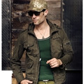 Brand Clothing Jacket Men Casual Cargo Bomber Jacket Military Army Jaqueta Masculina 2016 New Man Jackets