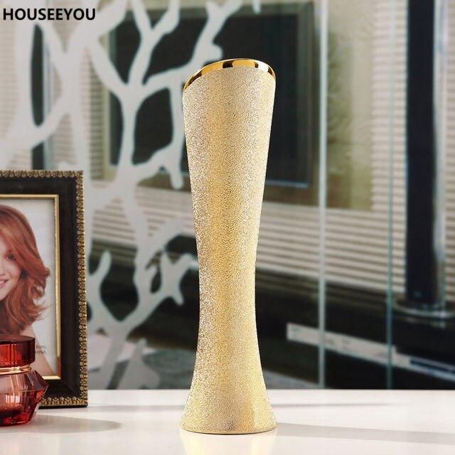 tienda online cermica moderna jarrones flor decorativa jarrn contenedor para el hogar comedor sala de la boda decoracin de mesa accesorios adornos - Jarrones Decorativos