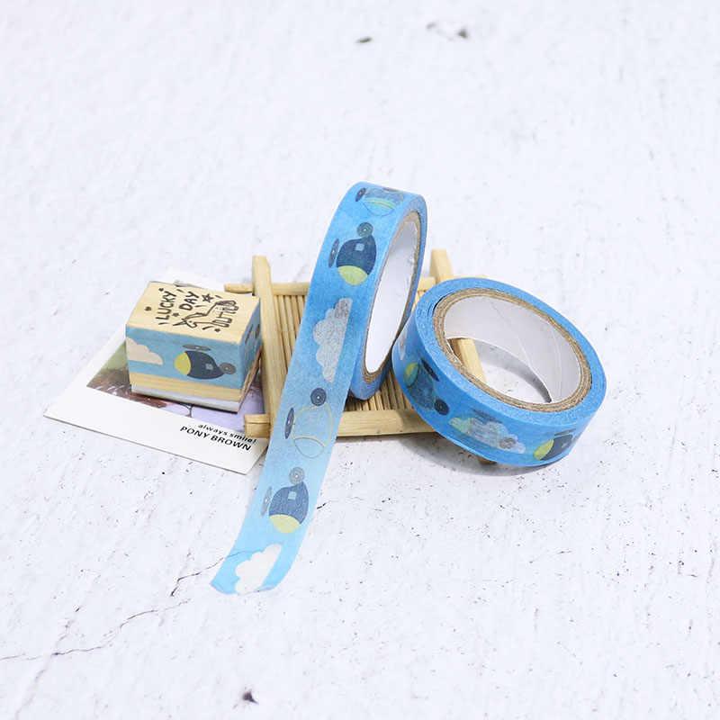 1 pz Carino Washi Tape Nastro Piano Nastro Adesivo Auto Adesivo Decor FAI DA TE Scrapbooking Scuola Etichetta Adesiva di Cancelleria, 10 m x 1.5 cm