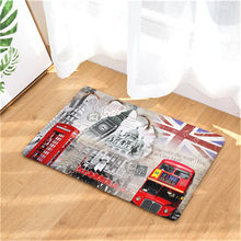 CAMMITEVER London Big Ben Double-decker Bus Bridge Paris Towel Welcome Home Doormat Rug Entrance Floor Funny Door Bathroom Mat(China)