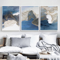 Modern New Chinese Abstract Ink Splash Painting Paint Poster Art Canvas On The Wall Image Home Decoration