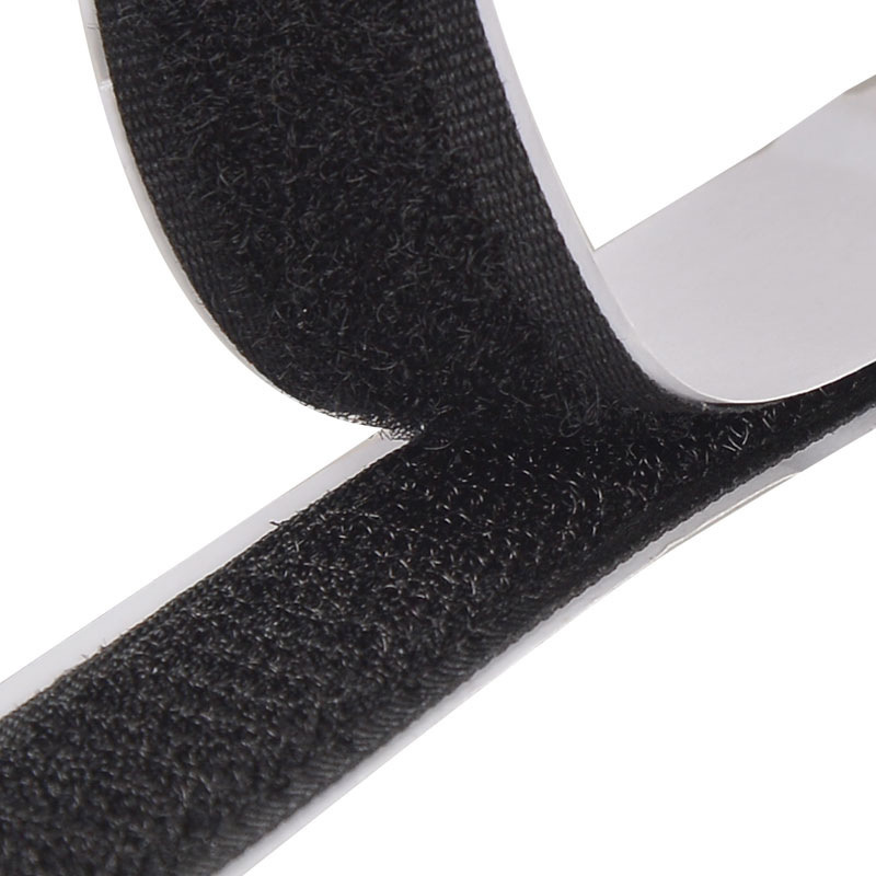 Black White velcros Adhesive Double Hook And Loop Fastener Tape Nylon Multi-sizes Magic Sticker Tape With Strong Glue 1Meter